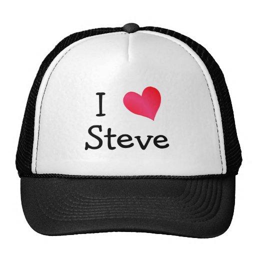 I Love Steve Hats