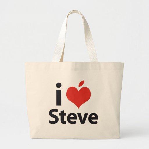 I love Steve Jumbo Tote Bag