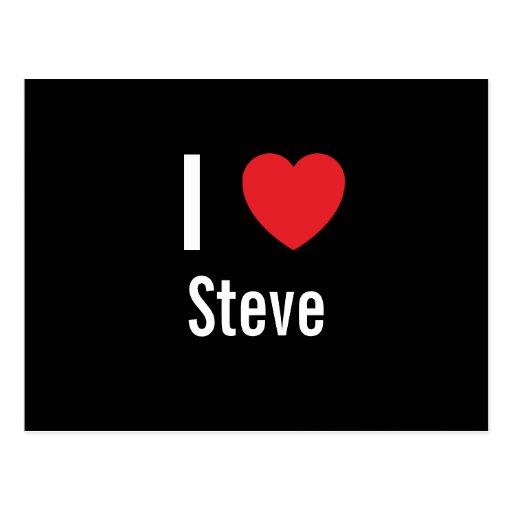 I love Steve Postcards