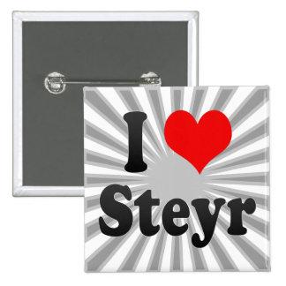 I Love Steyr, Austria. Ich Liebe Steyr, Austria Pinback Button
