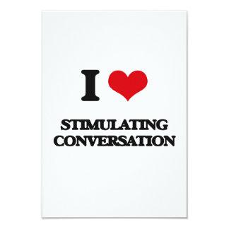 I love Stimulating Conversation 3.5x5 Paper Invitation Card