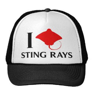 I Love Sting Rays Trucker Hat