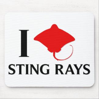 I Love Sting Rays Mousepads