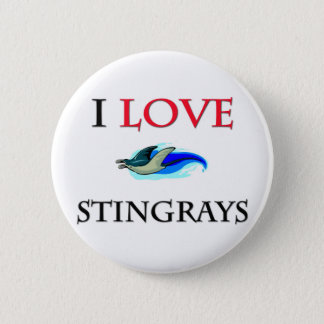 I Love Stingrays Button
