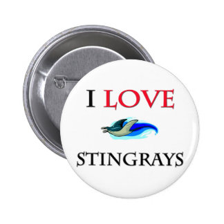 I Love Stingrays 2 Inch Round Button