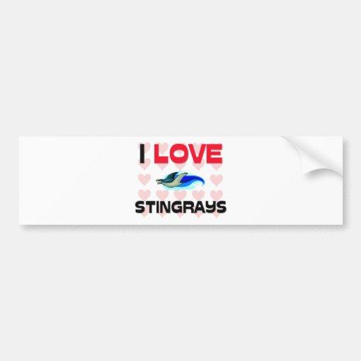 I Love Stingrays Car Bumper Sticker