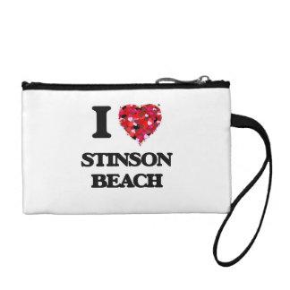 I love Stinson Beach California Coin Purses