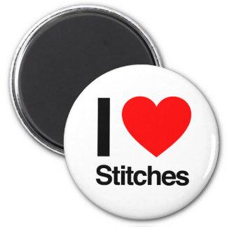 i love stitches fridge magnet