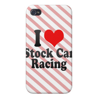 I love Stock Car Racing Case For iPhone 4