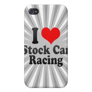 I love Stock Car Racing iPhone 4/4S Cover