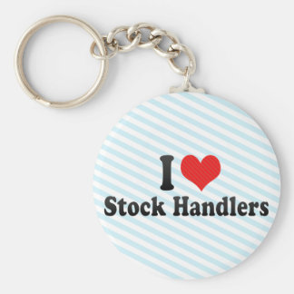 I Love Stock Handlers Key Chain