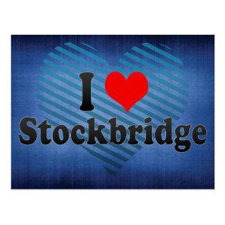 I Love Stockbridge, United States Postcard