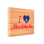 I Love Stockholm, Maine Stretched Canvas Prints