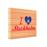 I Love Stockholm, New York Canvas Print