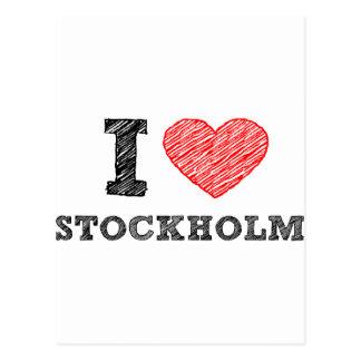 I love Stockholm Postcard