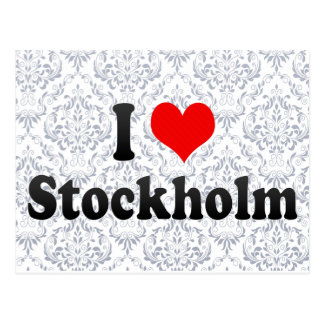I Love Stockholm, Sweden Postcard