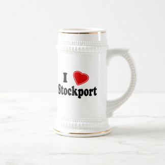 I Love Stockport Beer Stein