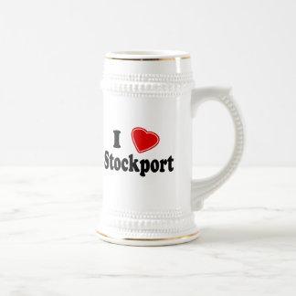I Love Stockport Beer Stein