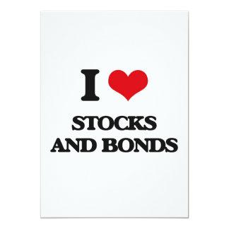 I love Stocks And Bonds 5x7 Paper Invitation Card