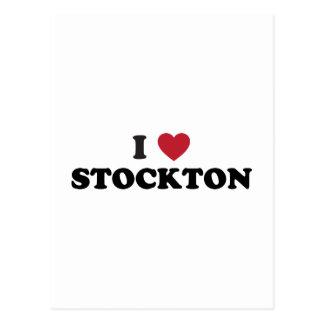 I Love Stockton California Postcard