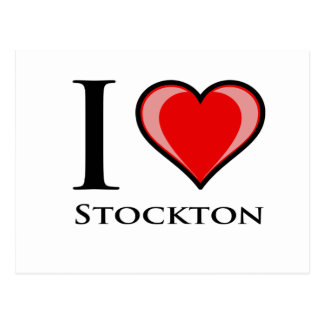 I Love Stockton Postcard