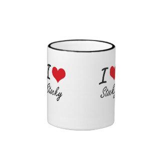 I love Stocky Ringer Coffee Mug