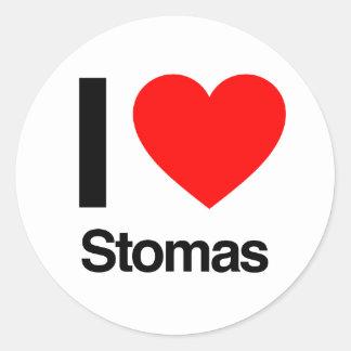 i love stomas classic round sticker