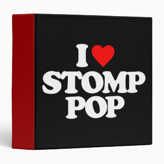 I LOVE STOMP POP BINDER