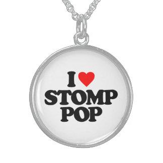 I LOVE STOMP POP STERLING SILVER NECKLACE
