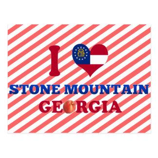 I Love Stone Mountain, Georgia Postcard