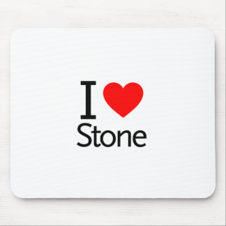 I Love Stone Mouse Pads