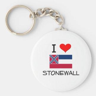 I Love Stonewall Mississippi Basic Round Button Keychain