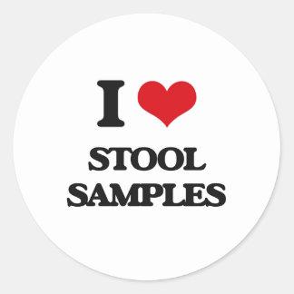 I love Stool Samples Classic Round Sticker