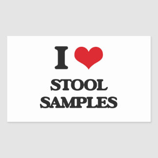 I love Stool Samples Rectangular Sticker