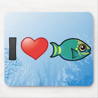 I Love Stoplight Parrotfish Mouse Pad