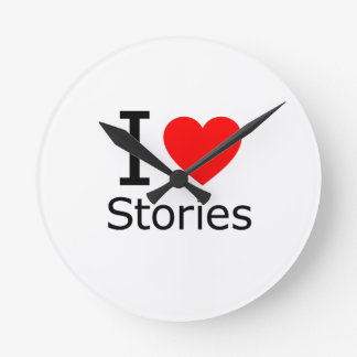 I Love Stories Round Wallclock