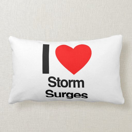 i love storm surges throw pillow