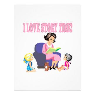I Love Story Time 2 Flyer Design