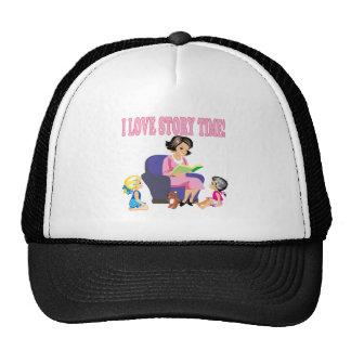 I Love Story Time 2 Trucker Hat