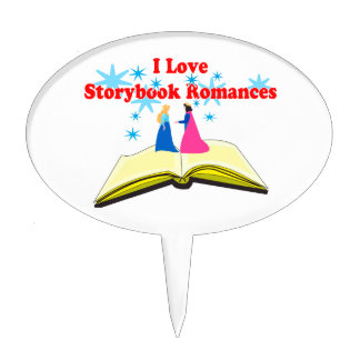I Love Storybook Romances Cake Topper