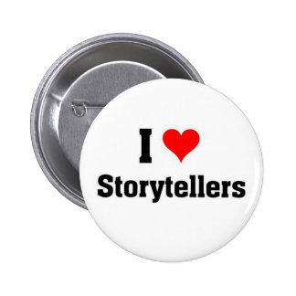i love storytellers pinback buttons