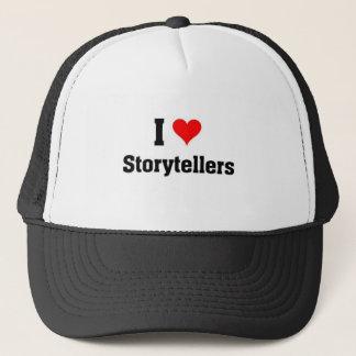 i love storytellers trucker hat