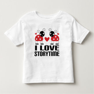 I Love Storytime Red Ladybug Kids Tee Gift