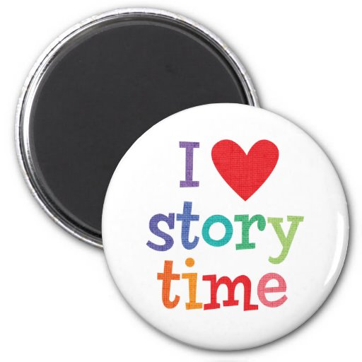 I Love Storytime T-Shirts & Gifts 2 Inch Round Magnet
