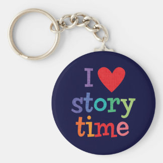 I Love Storytime T-Shirts & Gifts Key Chain