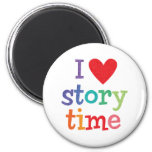 I Love Storytime T-Shirts & Gifts Magnets