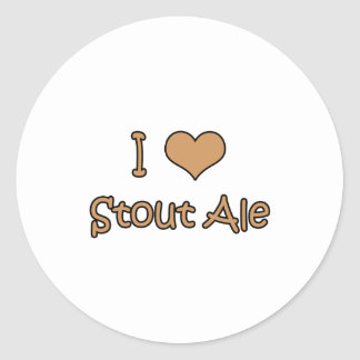 I Love Stout Ale Stickers