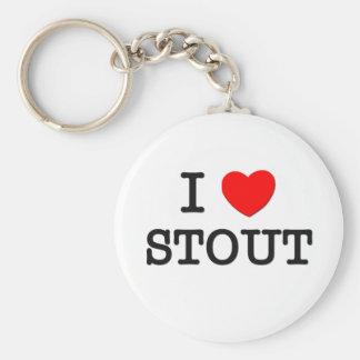 I Love Stout Basic Round Button Keychain