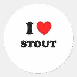 I love Stout Round Sticker