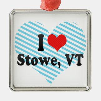 I Love Stowe, VT Metal Ornament
